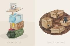 Teacup-onderdelen