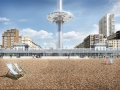 British Airways i360 beach building from the south