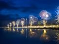 British Airways i360 fireworks at night
