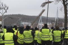 Lisebergs personal beskådar högsta bandelen av Valkyria